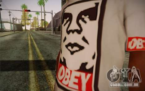 Obey Shirt para GTA San Andreas terceira tela