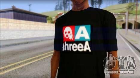 ThreeA T-Shirt para GTA San Andreas terceira tela