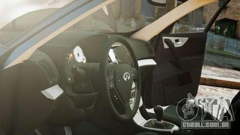 Infiniti FX50S v1.0 para GTA 4 vista direita