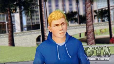 Jimmy from Bully Scholarship Edition para GTA San Andreas