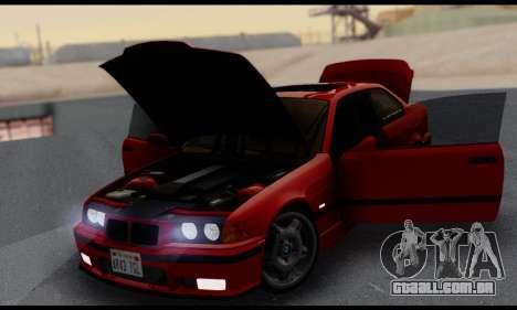 BMW M3 E36 1994 para GTA San Andreas vista superior