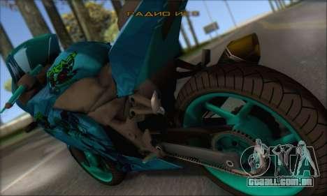 Kawasaki Ninja 250 RR Highschool DxD para GTA San Andreas esquerda vista