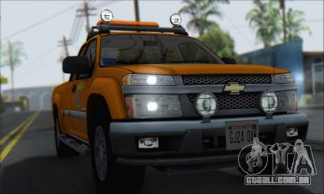 Chevrolet Colorado Cleaning para GTA San Andreas vista direita