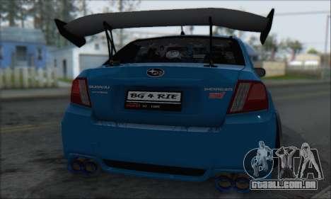 Subaru Impreza WRX STI 2010 para GTA San Andreas vista interior