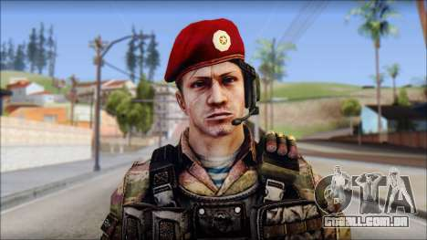 Forest GRU Vlad from Soldier Front 2 para GTA San Andreas terceira tela