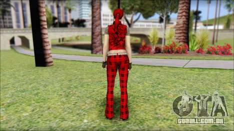 Rock Chicks Red Ped para GTA San Andreas segunda tela