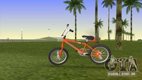 BMX from GTA San Andreas para GTA Vice City vista traseira esquerda