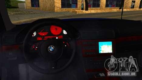 BMW 740i E38 para GTA San Andreas vista direita