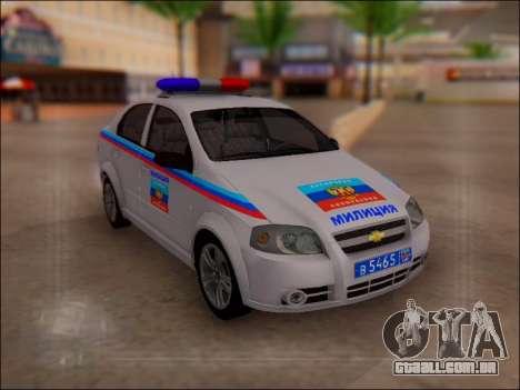 Chevrolet Aveo Polícia LNR para GTA San Andreas