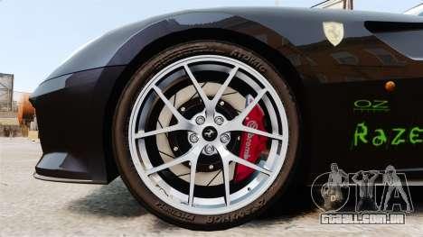 Ferrari 599 GTO PJ1 para GTA 4 vista de volta
