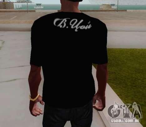 T-shirt c Viktor Tsoi para GTA San Andreas terceira tela