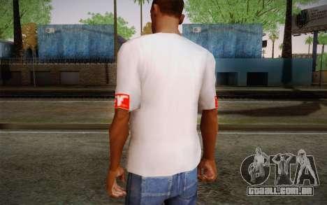 Obey Shirt para GTA San Andreas segunda tela