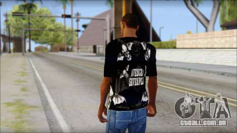A7X Deathbats Fan T-Shirt Black para GTA San Andreas segunda tela
