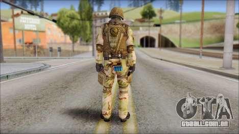Desert GIGN from Soldier Front 2 para GTA San Andreas segunda tela