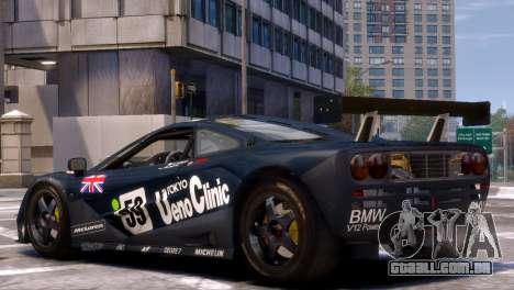 McLaren F1 GTR para GTA 4 esquerda vista
