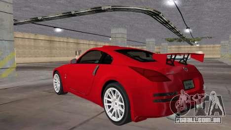 Nissan 350z Tuned para GTA Vice City deixou vista