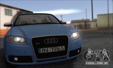 Audi S4 4.0 Quattro 2006 para GTA San Andreas esquerda vista
