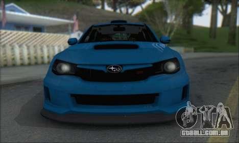 Subaru Impreza WRX STI 2010 para GTA San Andreas esquerda vista