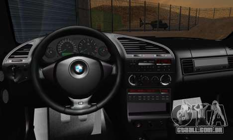 BMW M3 E36 1994 para vista lateral GTA San Andreas