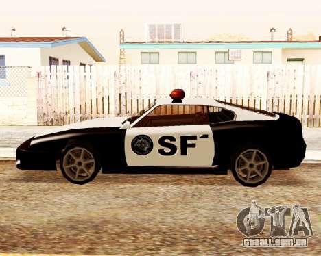 Jester Police SF para GTA San Andreas esquerda vista