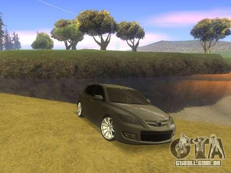 Mazda 3 v2 para GTA San Andreas traseira esquerda vista