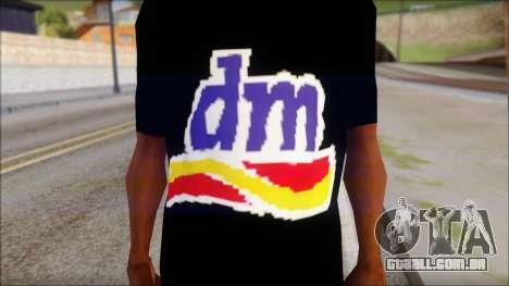 DM T-Shirt Drogerie Market para GTA San Andreas terceira tela