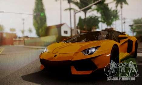 Lamborghini Aventador TT Ultimate Edition para GTA San Andreas vista traseira