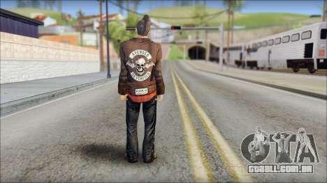 Biker from Avenged Sevenfold 3 para GTA San Andreas segunda tela