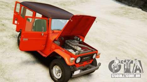 Toyota FJ40 Land Cruiser 1978 Beta para GTA 4 vista direita