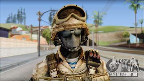 Desert GRU from Soldier Front 2 para GTA San Andreas terceira tela
