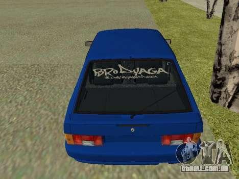 VAZ 2114 para GTA San Andreas vista interior