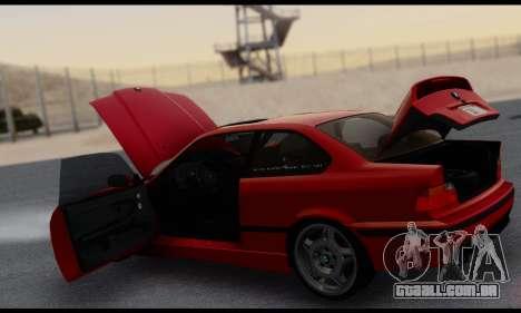 BMW M3 E36 1994 para GTA San Andreas vista inferior