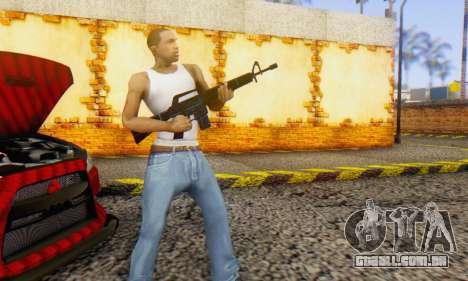 Abstract M16 para GTA San Andreas terceira tela