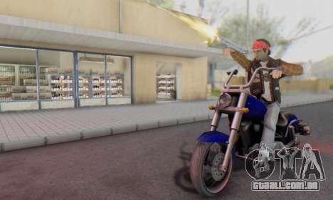 Biker A7X 2 para GTA San Andreas quinto tela