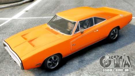 Dodge Charger RT 1970 para GTA 4 traseira esquerda vista
