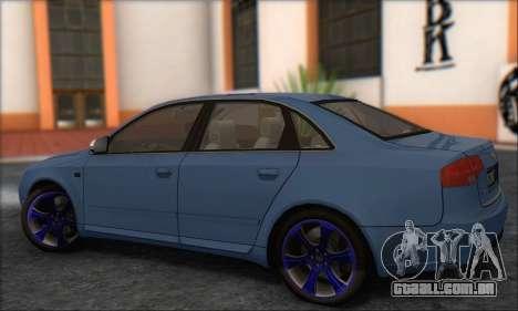 Audi S4 4.0 Quattro 2006 para GTA San Andreas vista direita
