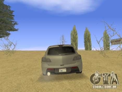 Mazda 3 v2 para GTA San Andreas vista direita