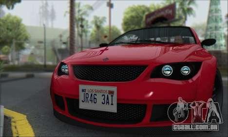 A superioridade Sentinela XS para GTA San Andreas traseira esquerda vista