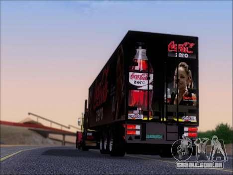 Trailer Chereau Coca-Cola Zero Caminhão para GTA San Andreas vista inferior