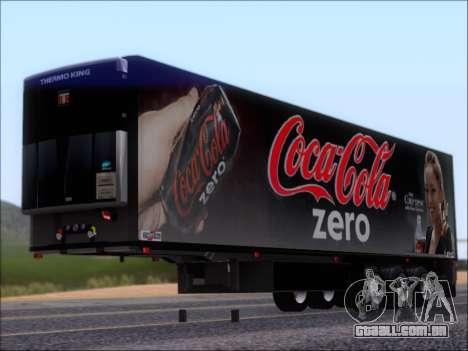Trailer Chereau Coca-Cola Zero Caminhão para GTA San Andreas