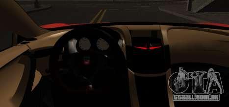 Spano Black para GTA San Andreas traseira esquerda vista
