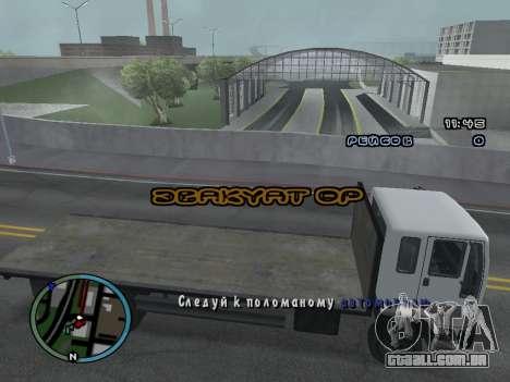 Evacuador v1.0 para GTA San Andreas por diante tela