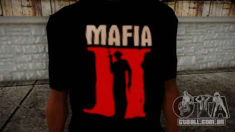 Mafia 2 Black Shirt para GTA San Andreas terceira tela