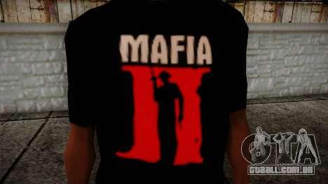 Mafia 2 Black Shirt para GTA San Andreas terceira tela