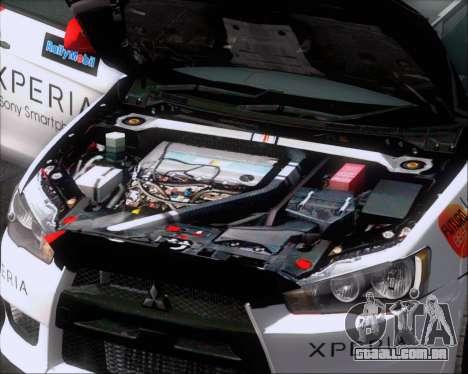 Mitsubushi Lancer Evolution Rally Team Claro para GTA San Andreas vista inferior
