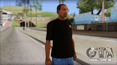 Black Izod Lacoste T-Shirt para GTA San Andreas