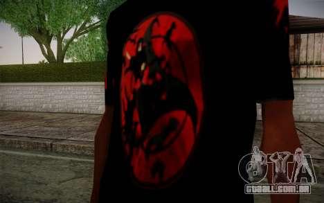 Uchiha Itachi T-Shirt para GTA San Andreas segunda tela