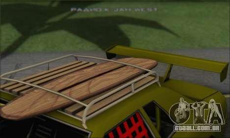 Doktor Style Elegy para GTA San Andreas vista traseira