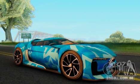 Citroen GT Blue Star para GTA San Andreas esquerda vista