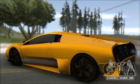 Pegassi Infernus para GTA San Andreas vista direita